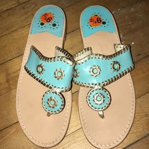 Jack Rogers baby blue with gold